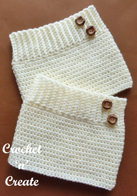 ribbed boot cuffs pattern