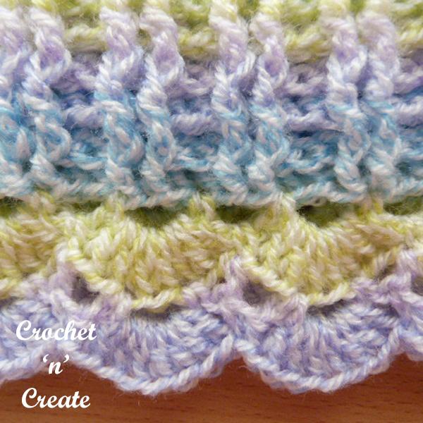 cowl stitch closeup