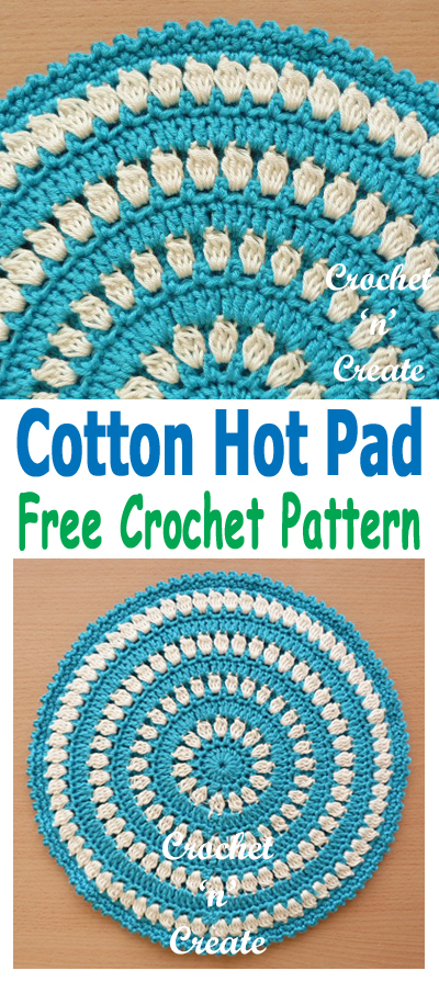 cotton hot pad pattern uk