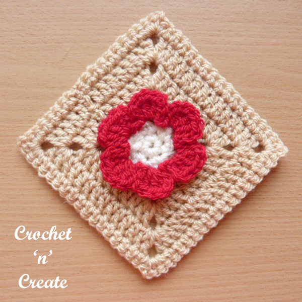 Red granny square