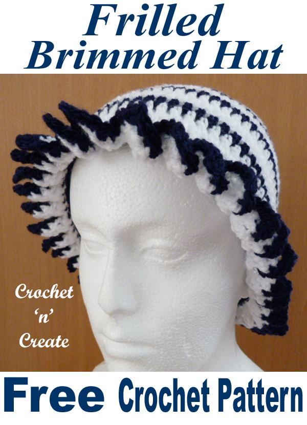 frilled brim hat