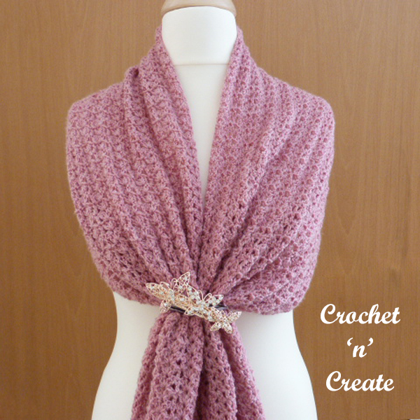 over shoulders shawl
