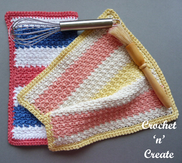 multi color dishcloth pattern
