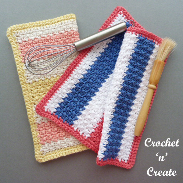 multi color dishcloth