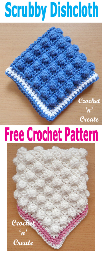 Crochet scrubby dishcloth uk