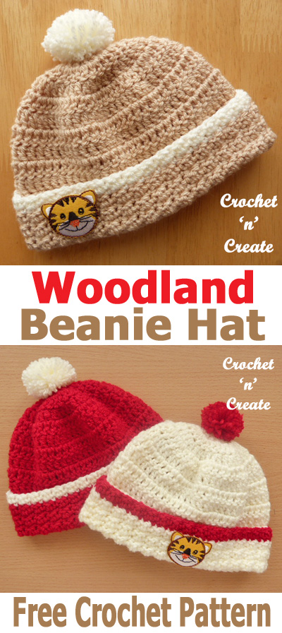 woodland newborn beanie UK format