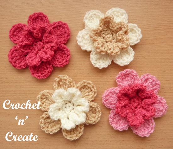 layered petals flower motif uk