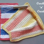 multi colored dishcloth