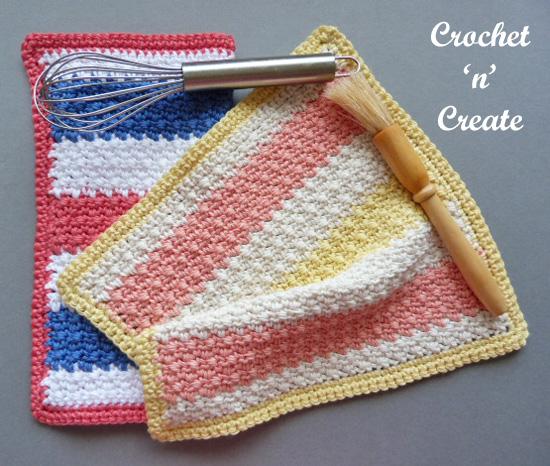 multi colored dishcloth