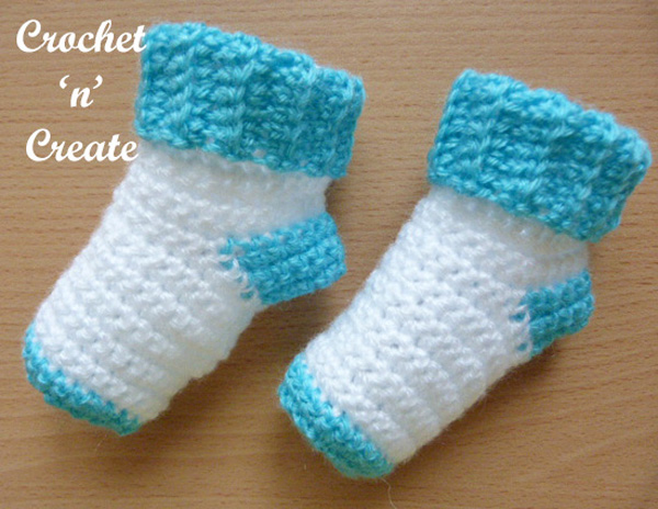 baby socks free crochet pattern
