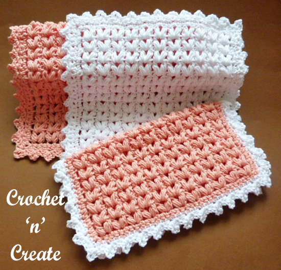puff stitch dishcloth pattern