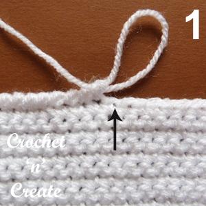 stitch to right