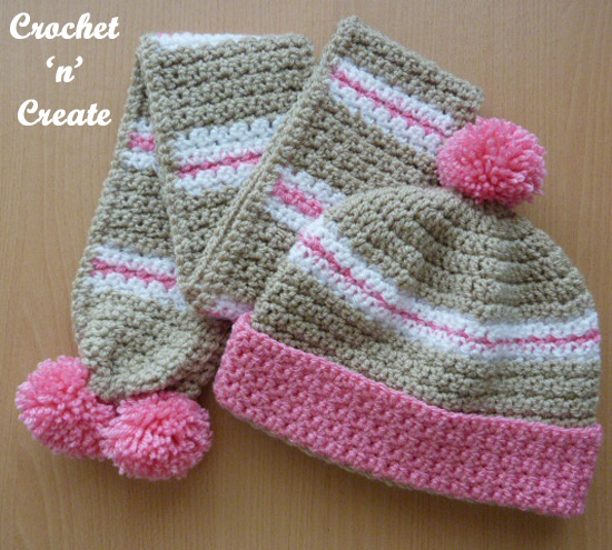 crochet childs hat-scarf uk