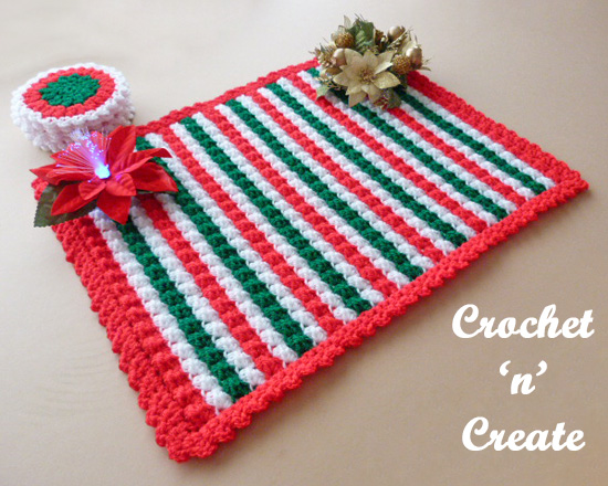 crochet christmas table mat