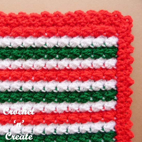 crochet christmas mat
