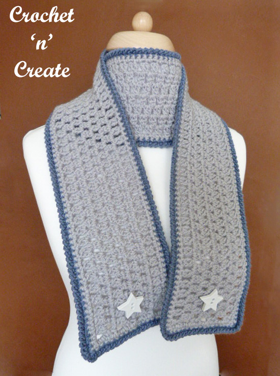 crochet ladies scarf