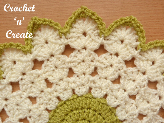 crochet round doily edge uk