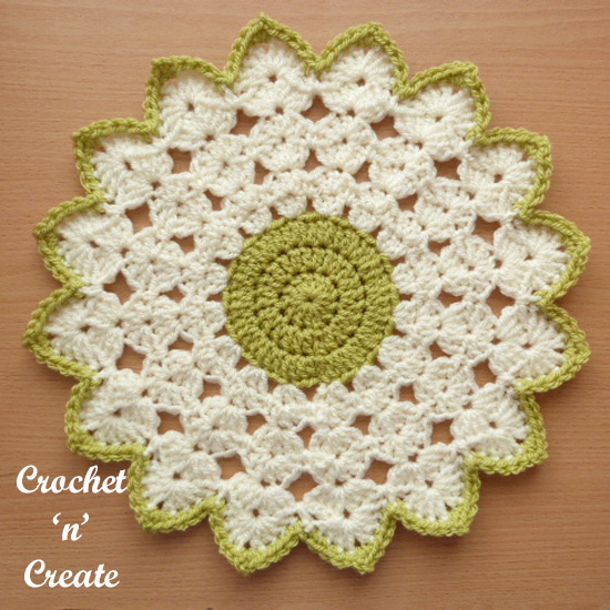 crochet round doily uk