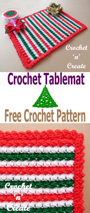 crochet christmas tablemat