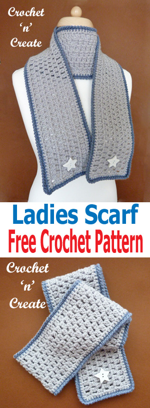 free crochet ladies scarf