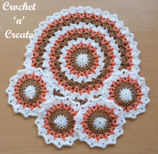 crochet mat-coaster