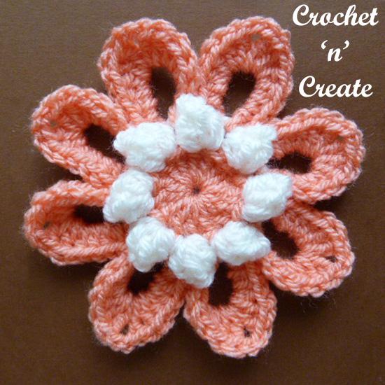 crochet popcorn flower