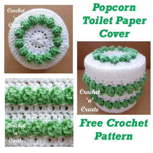 Crochet Popcorn Toilet Paper Cover Crochet N Create