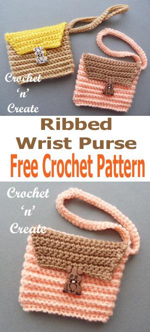 crochet wrist purse