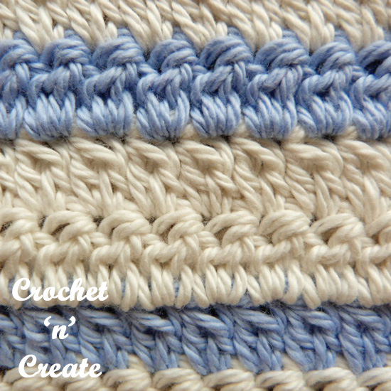 crochet two cluster stitch