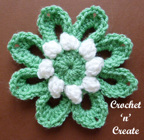 crochet popcorn flower uk