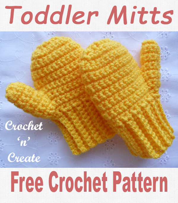 Crochet toddler mitts