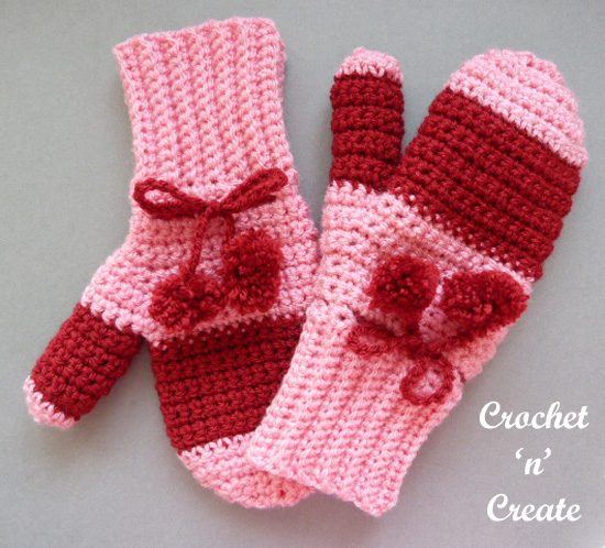 crochet adult mitts