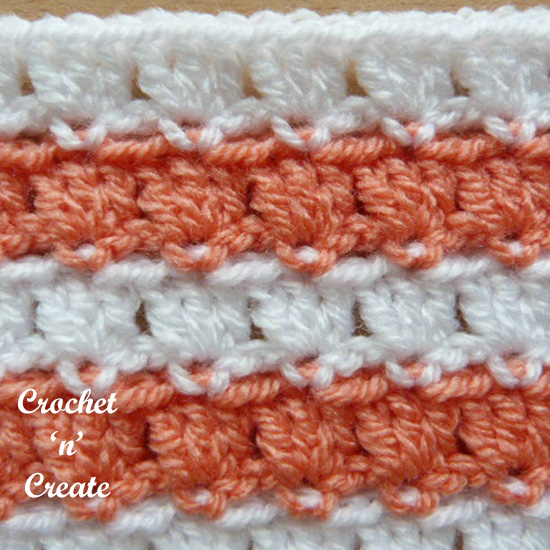 crochet piggyback stitch pictorial