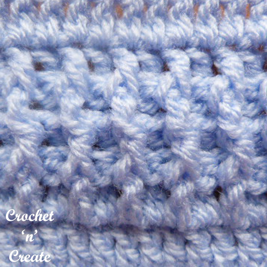crochet post stitches pictorial