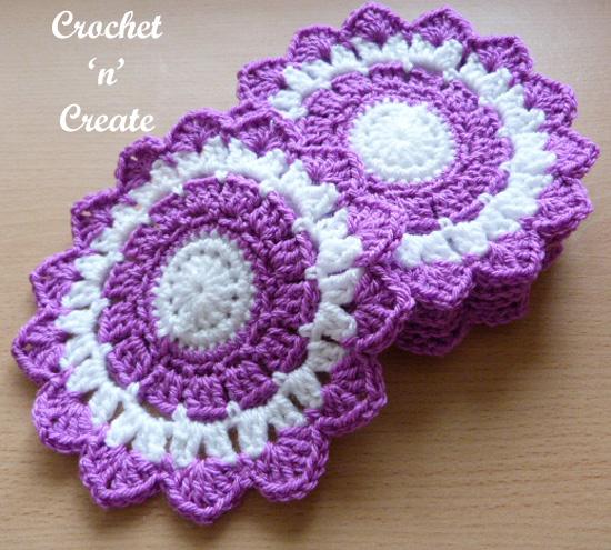 crochet large coaster