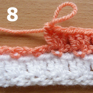 crochet piggyback stitch pictorial