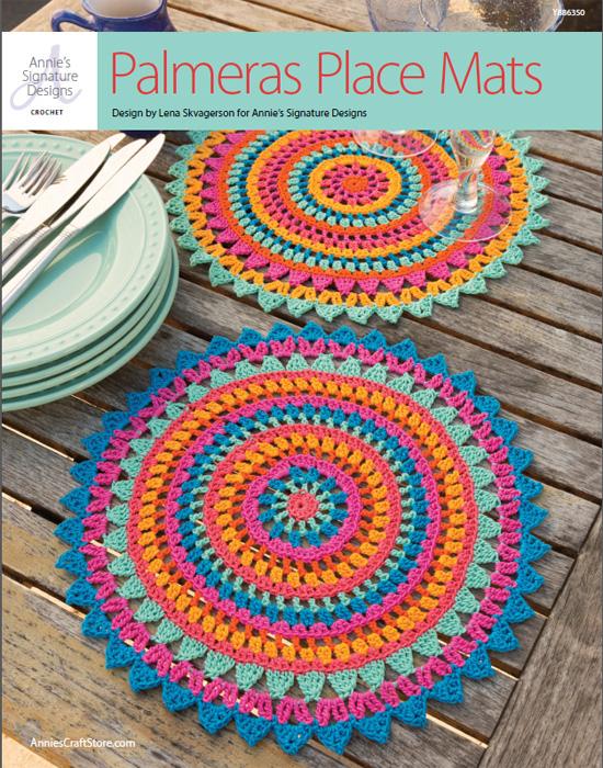crochet palmeras place mats