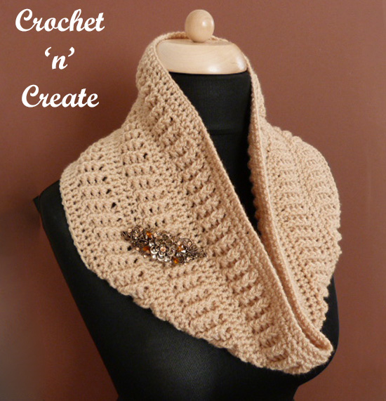 crochet ribbed cowl