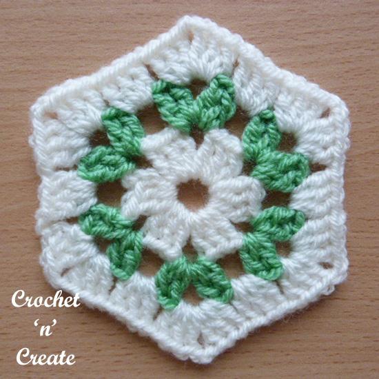 white granny hexagon