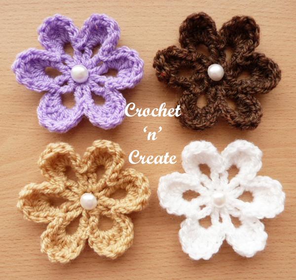 crochet pretty flower