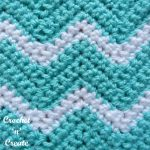 Crochet ripple stitch Pictorial
