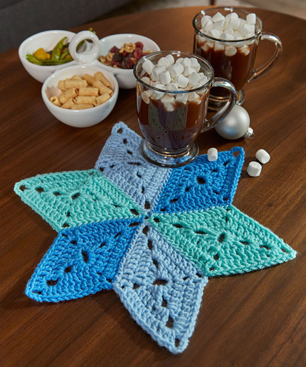 Star table doily