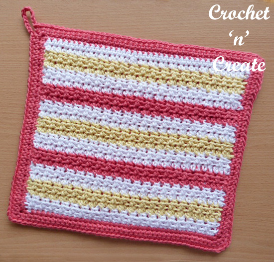 crochet thick potholder