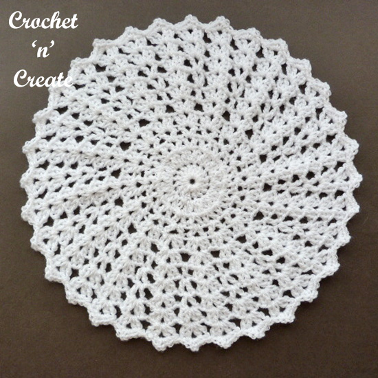 crochet shell doily