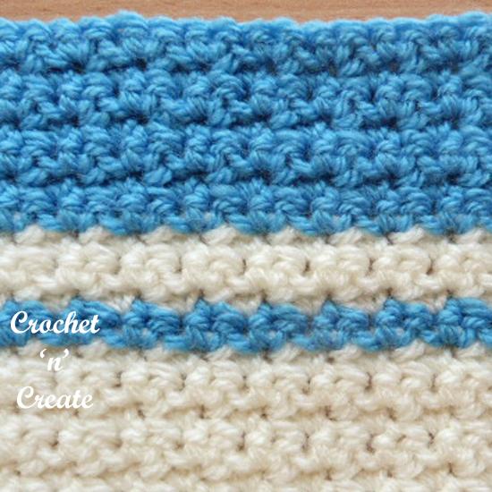 crochet grit stitch pictorial