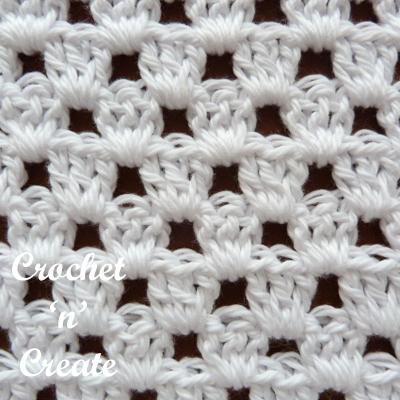 granny stitch closeup