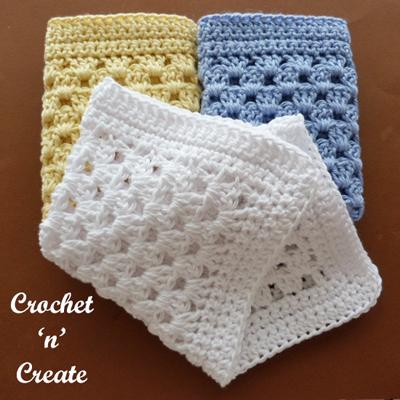 granny trio washcloth
