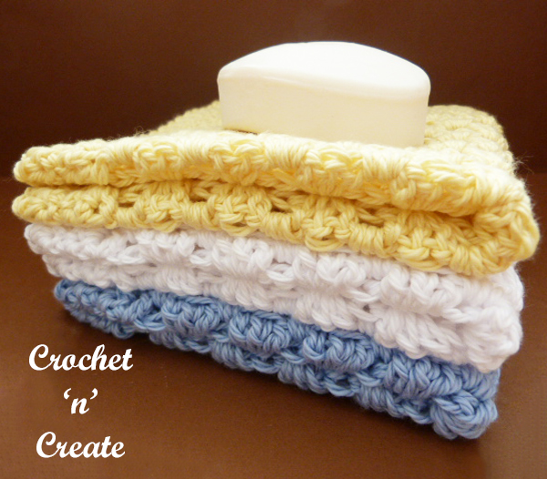 crochet granny washcloth