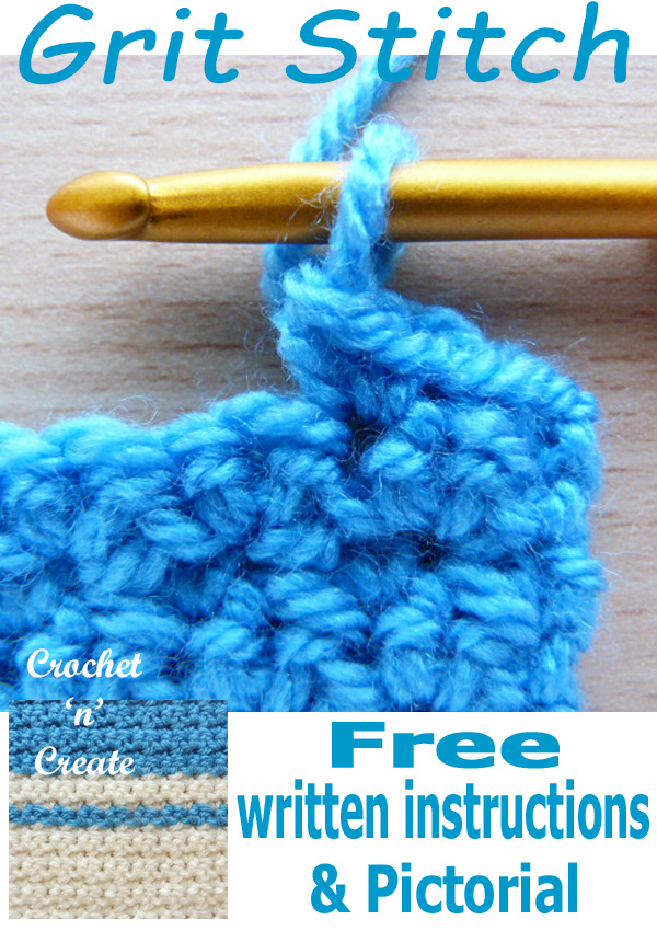 Crochet grit stitch free pictorial