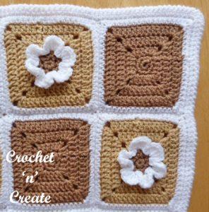 crochet pram cover corner